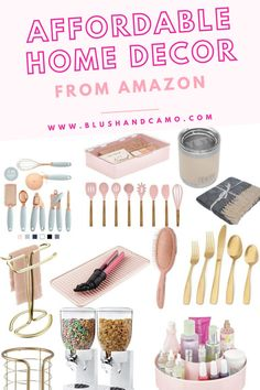 Today I'm sharing with you my best finds on Amazon for decorating your home! From the kitchen to the bathroom and every room in between, I've found items that are not only affordable but adorable as well! And the best part, they are all available through Amazon Prime! Let's get shopping! #amazonprime #affordablefinds #homedecor