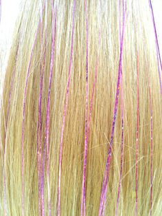 hair tinsel... Finally! This is what I've been talking about! But I would use gold and a more auburn color.
