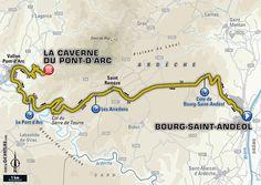 Étape 13 - Bourg-Saint-Andéol > La Caverne du Pont-d'Arc - Tour de France 2016