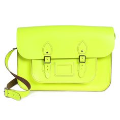 """Satchel 14"""" Neon Yellow so cool, love this whole fluo madness!"""