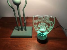 NYPD Police Gift Light - Best Police Gift - Color Changing Desk Light - Select Design or request your own. Premier Display Inc.