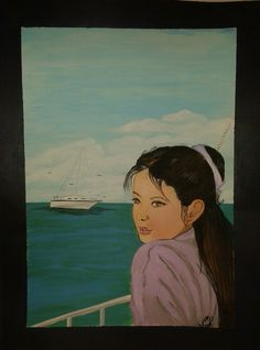 Auf der Reise/  Acrylmalerei
