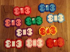 Bows hama beads by Kay Gibson