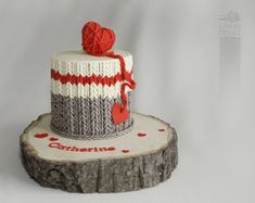 wool socks cake