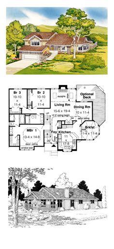 Contemporary Ranch Retro Traditional House Plan 20148