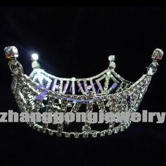 beauty pageant crown brooch | beauty design fully round rhinestone pageant crown, View pageant crown ...