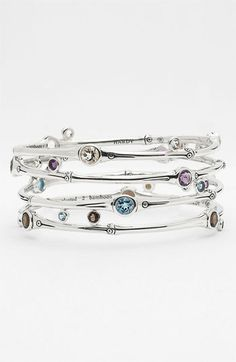 John Hardy 'Bamboo Silver Batu' Stone Bangle (Nordstrom Exclusive) available at #Nordstrom