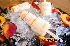 The Slow Roasted Italian: Peaches and Cream Ice Pops-Peaches and Cream Ice Pops, everything your taste buds have been waiting for this summer.