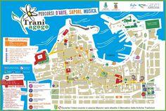 Trani tourist map