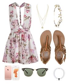 """Reality"" by sugarbubbles ❤ liked on Polyvore featuring Billabong, Ray-Ban, Everest and Cult Gaia"