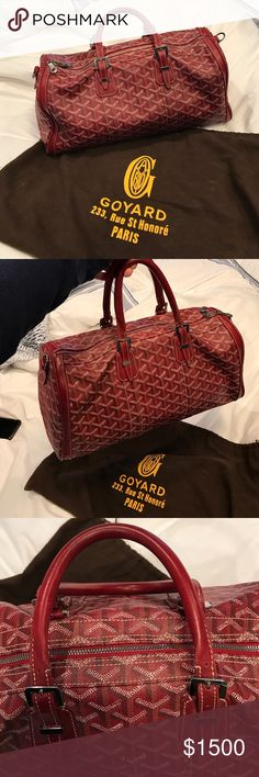 GOYARD CROISIERE 35cm Timeless Red Goyard Croisiere 35. Slightly used only a handful of times. Excellent condition!! Have original tags and dust bag included. Goyard Bags