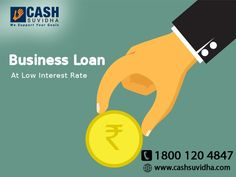 Cash Suvidha offers Business Loan for SME at Low Interest Rate. #ApplyOnline #BusinessLoan #LoanforSME #LowROI