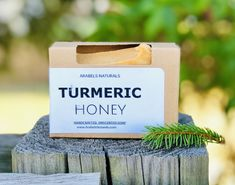 TURMERIC HONEY SOAP This is Our Handcrafted Turmeric Soap, made with high quality organic oils and butters. We use the highest quality turmeric to provide a Beautiful Color to this bar. Our Unscented Bar is made for all skin types and is gentle enough for sensitive skin. This soap is very versatile and can be used as a face soap, body soap or shaving soap for men, women, and teens. This Soap Bar will not stain. Ingredients Ingredients: Organic RSPO Sustainable Palm Oil, Organic Unrefined Shea Bu Turmeric And Honey, Turmeric Soap, Turmeric Root Extract, Organic Turmeric, Organic Butter, Organic Oils, Organic Castor Oil, Natural Toner, Natural Moisturizer