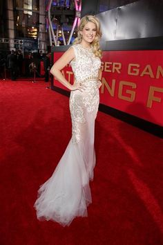 "Stephanie Leigh Schlund attends the premiere of ""The Hunger Games: Catching Fire"" in Los Angeles on Nov. 18, 2013."