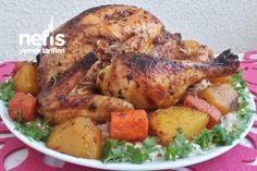 Fırın Poşetinde Bütün Tavuk (Lokum Kıvamında) Tarifi