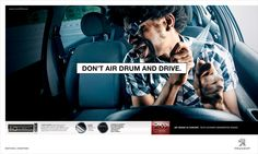 Don't Air Drum, Mic or Guitar and Drive! By Y&R São Paulo in #Brazil - #Ads #Advertising