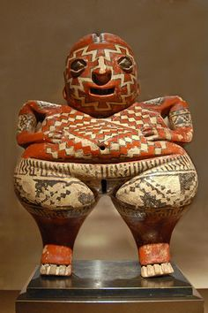 Statuette of the Chupícuaro people. Terracotta, Mexico, 7th-2nd century BC.