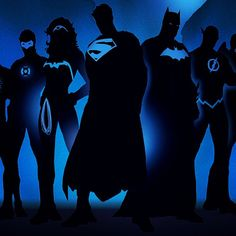 Justice League - black n blue