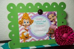 Nick Jr's Bubble Guppies Themed 2nd Birthday Party Planning Ideas
