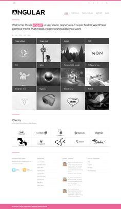 Angular - responsive portfolio WordPress Theme