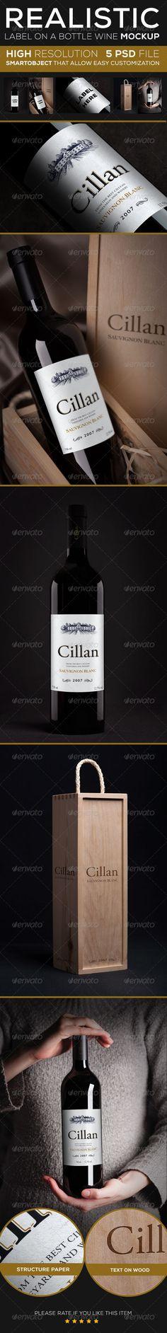 Wine Bottle Mock up - GraphicRiver Item for Sale