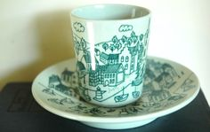Danish- mid-century cup and saucer