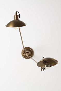 This would be perfect for over the bed.... Couplet Sconce  #anthropologie