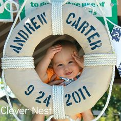 My Clever Nest: Andrew's First Birthday: Vintage Nautical Style