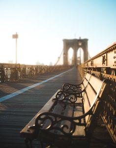 Brooklyn Bridge at sunrise. New York Photography Fine Art Photo Wall Art by Squint Photography