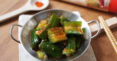 韓式涼拌小黃瓜 的精彩食譜。爽口清脆的小黃瓜,有點辣有點鹹香,冰的涼涼的,非常適合夏天的開胃菜