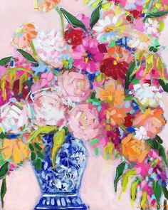 Chinoiserie Chic Print Chinoiserie Chic Print C Brooke Ring Pink floral painting art print framed colorful abstract flower painting floral in ginger jar bar cart styling pink and gold decor florals above a bar cart peony painting Pink Abstract, Abstract Flowers, Abstract Art, Peony Painting, Painting Art, Abstract Flower Paintings, Art Paintings, Beautiful Artwork, Decoration