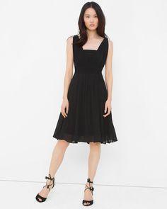 f65d6c9937f Women s Genius Chiffon Convertible Black Dress by White House Black Market