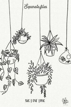 Indoor hanging plants svg bundle cut files botanical etsy doodle art the oxygen bomb place these wherever you want to clear toxins and negative energy from the air in your home Easy Doodle Art, Doodle Art Drawing, Plant Drawing, Drawing Ideas, Cute Easy Doodles, Happy Doodles, Bujo Doodles, Planner Doodles, Doodling Art