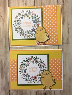 Stampin' Up Easter Card using Honeycomb Happiness and Circle of Spring stamp sets
