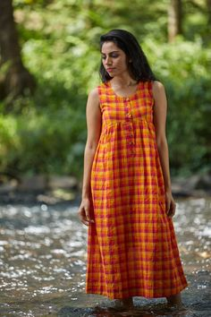Wildflower Button Dress – The Kaithari Project Indian Maternity Wear, Maternity Dresses, Casual Maternity, Kurta Designs, Blouse Designs, Dress Designs, Dresses For Pregnant Women, Clothes For Women, Night Gown Dress
