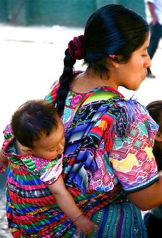 Mayan mother and child in Guatemala                             http://hostmyniche.com/learnspanish/
