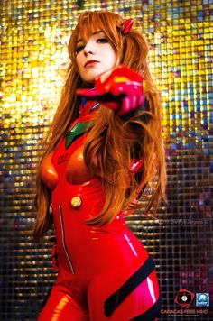 Happy Monday! Here comes a fantastic #cosplay of Asuka Langley Soryu from Neon Genesis Evangelion to #celebrate the opening of RagazzA3's #SF Shop on #Android!