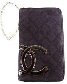 Chanel Large Chanel Zip Wristlet Wallet