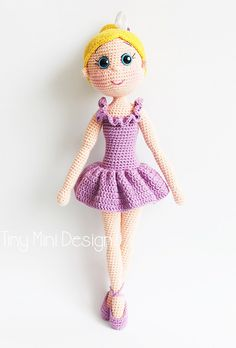 Ravelry: Amigurumi Ballerina Doll pattern by Tiny Mini Design