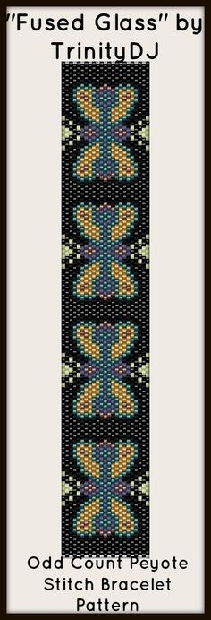 """NEW AND EXCITING NEWS : Here's your chance to test bead new designs and earn DISCOUNTS on your next 'In the Raw' Design! """"Fused Glass"""" (Odd Count Peyote stitch bracelet pattern) is one of the designs in this section. Please follow this link for more info: http://cart.javallebeads.com/Fused-Glass-Odd-Count-Peyote-Stitch-Pattern-p/td070.htm"""