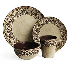 This set features a reactive glaze finish that enhances the shine and color finish.