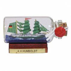 Maritmes Buddelschiff-Flaschenschiff der berühmten Alexander von Humboldt als schöne Geschenkidee und für Sammler.   KEINE VERSANDKOSTEN INNERHALB DEUTSCHLANDS!!   Bei Bestellung 1 Stück= 1VE a 5 Stück