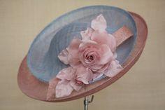 MF16/21 Double brim hat with handmade silk flowers