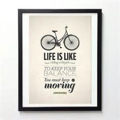 ... Riding a Bicycle Quote Print by Neue Graphic modern-prints-and-posters