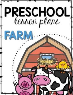 Fall is coming, that means it is time to go down to the farm! We love visiting our local farm and seeing the animals and produce. I also love to do our farm thematic unit at preschool. Farm Animals Preschool, Preschool Songs, Preschool Lesson Plans, Preschool Themes, Preschool Kindergarten, Preschool Learning, Preschool Boards, Fall Preschool, Preschool Printables