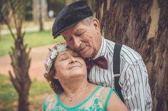 Bodas de ouro: atmosfera de carinho e paixão do casal