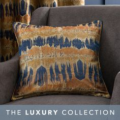 Wide range of Filled Cushions available to buy today at Dunelm, the UK's largest homewares and soft furnishings store. Navy Bedrooms, Navy Living Rooms, Curtains Dunelm, Blue Curtains, London Living Room, Jacquard Fabric, Beautiful Textures, Blue Tones, Soft Furnishings