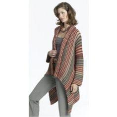 Free Asymmetrical Jacket Crochet Pattern
