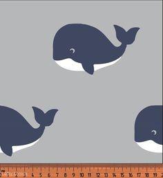 Velryby tmavě modré na šedé