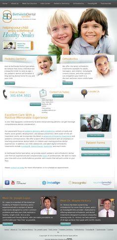 Bethesda Dental   Website Design
